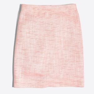 J. Crew Shimmery Pink Tweed Mini Skirt. Size 0